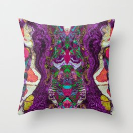 Slipping purple Throw Pillow