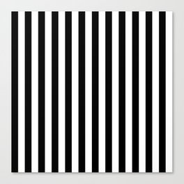 Stripes Black and White Vertical Canvas Print