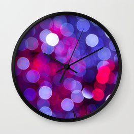 Pittsburgh Market Square Christmas Bokeh Wall Clock