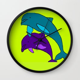 The Amazing Dolphins Wall Clock