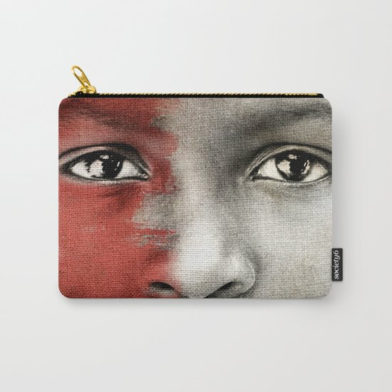 Colored Children 6 Carry-All Pouch