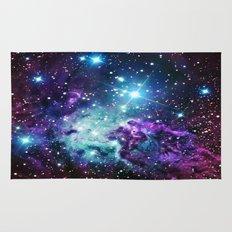 Fox Fur Nebula : Purple Teal Galaxy Rug