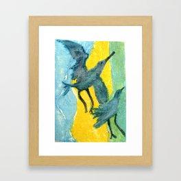 Seagulls Dancing Framed Art Print