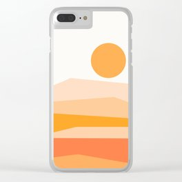 Abstract Landscape 09 Orange Clear iPhone Case