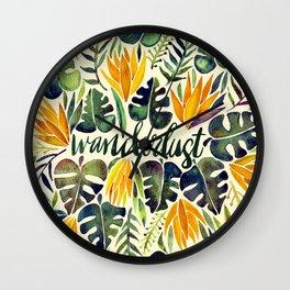 Tropical Wanderlust – Orange & Emerald Wall Clock