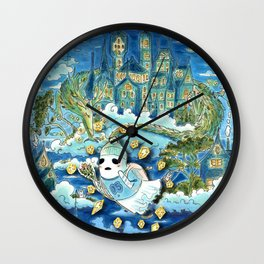 Big Ghost Little Ghost: Middle Panel Wall Clock