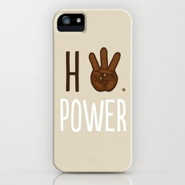 HiiiPower (w/text) : Chocolate iPhone Case