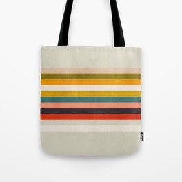 modern abstract stripe geometric Tote Bag