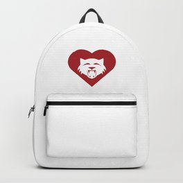 Wildcat Mascot Cares Red Backpack