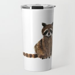 baby raccoon watercolor Travel Mug