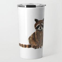 baby raccoon watercolor Travel Mug