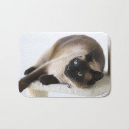 Sulley, A Siamese Cat Bath Mat