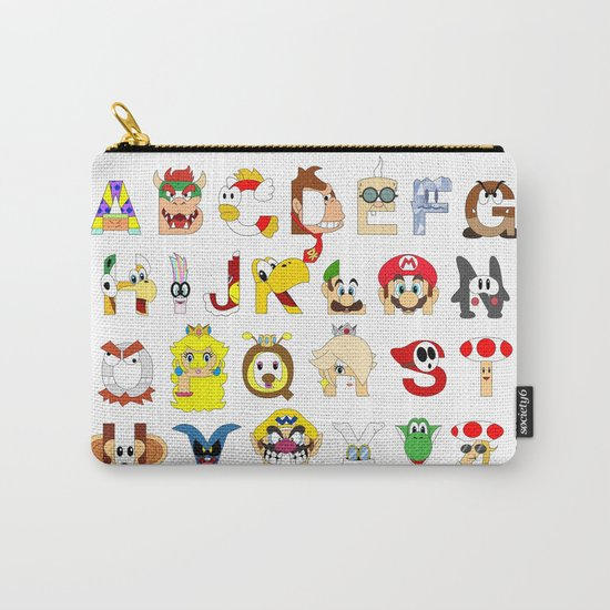 Super Mario Alphabet Carry-All Pouch