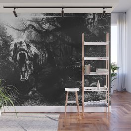 Black and white Jurassic period Wall Mural
