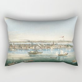 Vintage Panoramic Map of NYC (1844) Rectangular Pillow