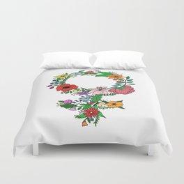 Feminist flower in color Duvet Cover