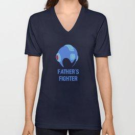 Father's Fighter Unisex V-Neck