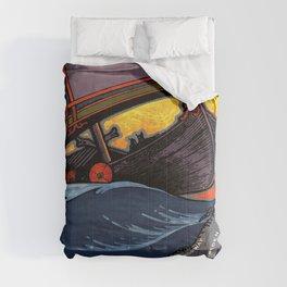 Scandinavia Land of the Vikings - Vintage Travel Comforters