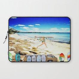 Blurry Beach Babe Laptop Sleeve