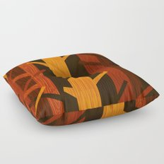 Retro Fall Woods by Friztin Floor Pillow