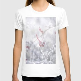 Winter Scene Rowan Berries With Snow And Bokeh #decor #buyart #society6 T-shirt