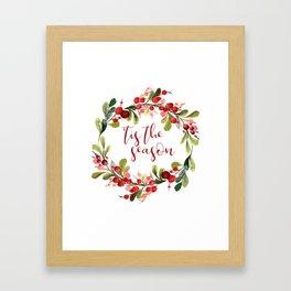 'TIS THE SEASON #christmas #society6 Framed Art Print