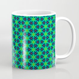 Bubble Pattern in Green Coffee Mug