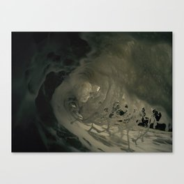 Ghostly depths of the ocean Canvas Print