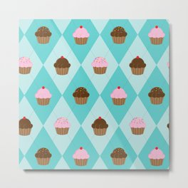 Argyle Cupcakes Metal Print