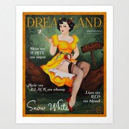 Dreamland Magazine Cover - Spring Ed. I - Snow White Art Print