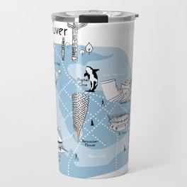 Mapping Vancouver - Blue Travel Mug
