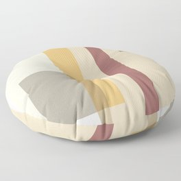 Color Harmony Orange Floor Pillow