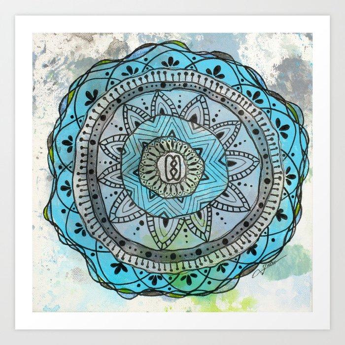 Serenity Mandala Art Print