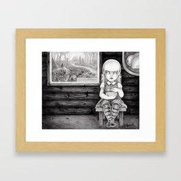 """The Porridge Thief"" (Goldilocks) Framed Art Print"