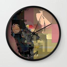 skull on code Wall Clock