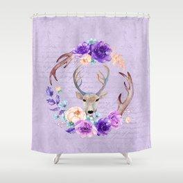 Lavender Love Letter Shower Curtain