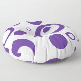 Circles Dots Bubbles :: Grape Juice Inverse Floor Pillow