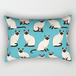Siamese Cats sparse on turquoise Rectangular Pillow
