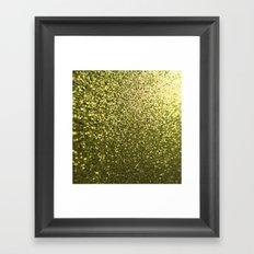 Gold Glitter Sparkle Framed Art Print