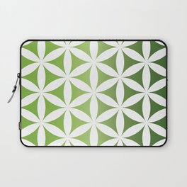 Green seed of life pattern Laptop Sleeve