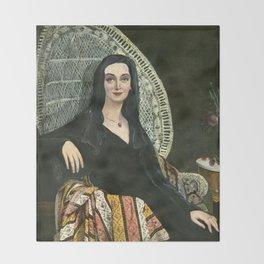 Madame Morticia Leblanc: Ingres meets The Addams Family Throw Blanket