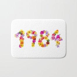 All Color Flower 1984 Bath Mat