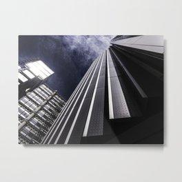 Urban Chrome Structure Metal Print
