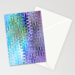 Charming Distractions, Abstract Art Waves Stationery Cards