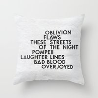 bastille Throw Pillows featuring Bastille #2 by Thafrayer