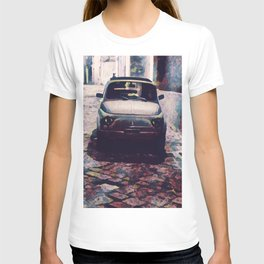 Classic Car in Back Street of Italy T-shirt