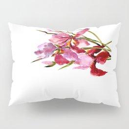 Purple Pink Iris Flowers Pillow Sham