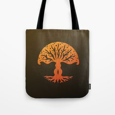 Tree of Life Woodcut Tote Bag