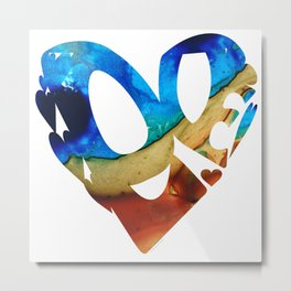 Heart Art - Love 6 by Sharon Cummings Metal Print