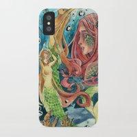 mermaids iPhone & iPod Cases featuring Mermaids by rumpelstiltskinned